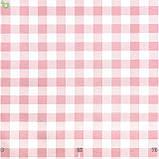 Декоративная ткань в мелкую клетку розового цвета Турция 015236v9, фото 3