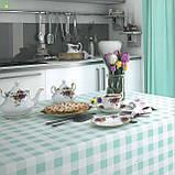 Декоративная ткань в мелкую бирюзовую клетку Турция 015236v2, фото 2