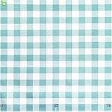 Декоративная ткань в мелкую бирюзовую клетку Турция 015236v2, фото 3