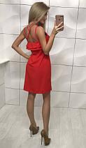 Летнее женское платье свободного кроя ft-1011 (42-46, разные цвета), фото 3
