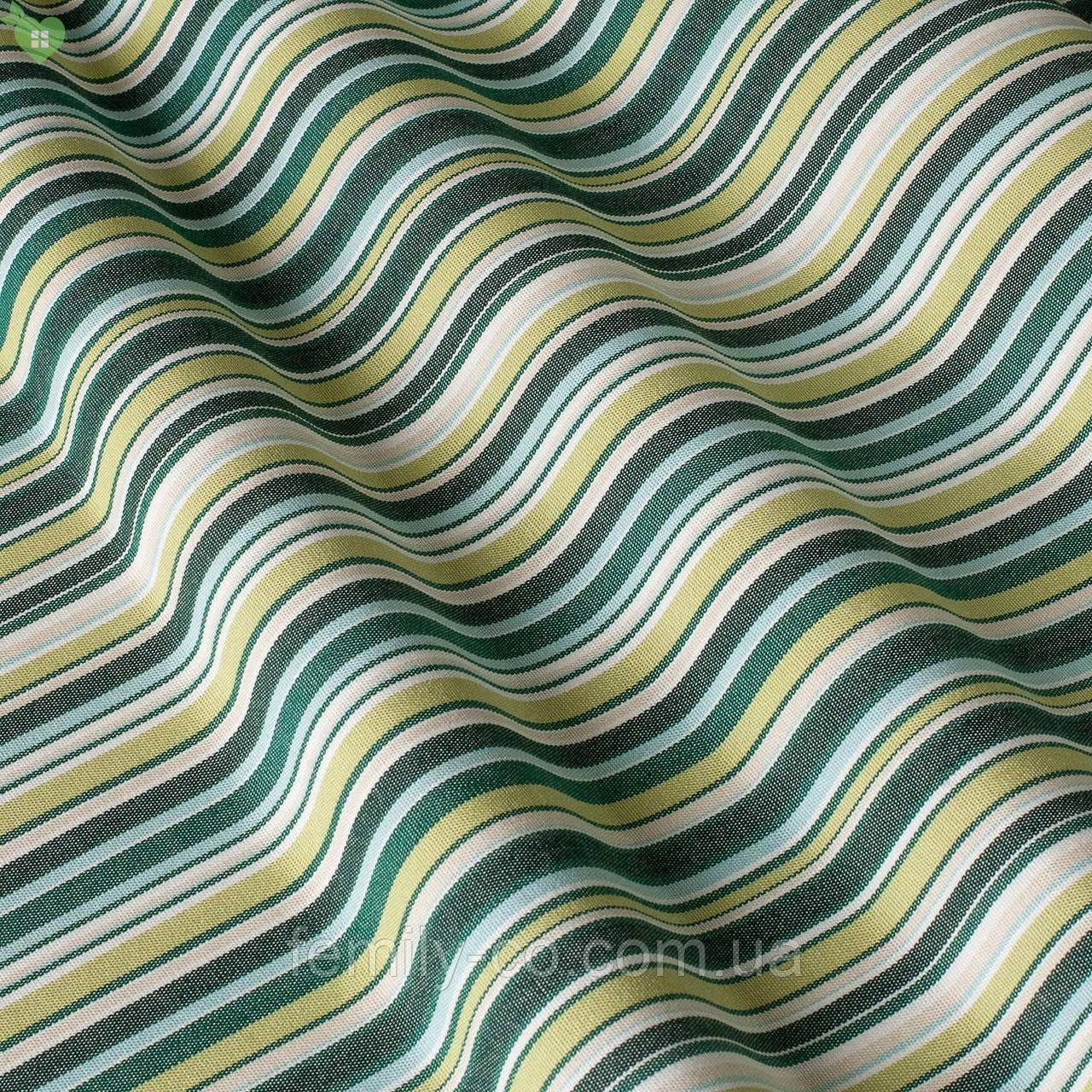 Уличная ткань в зеленую и салатную полосу на белом Испания 83413v4
