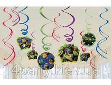 Спираль фольга Черепашки-ниндзя 12 3501-3222