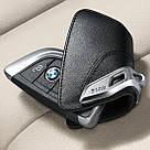 Оригинальный кожаный чехол для ключа BMW со стальным зажимом (82292344033), фото 2
