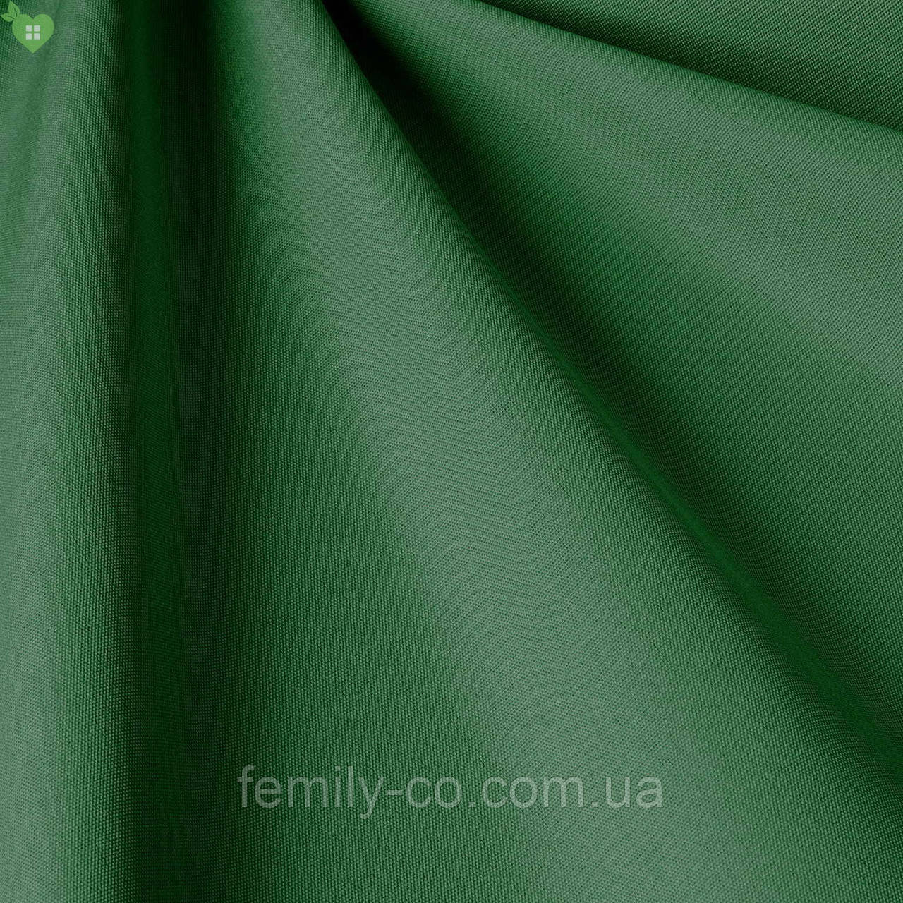 Однотонная уличная ткань цвета тропического леса водоотталкивающая Испания 83401v30