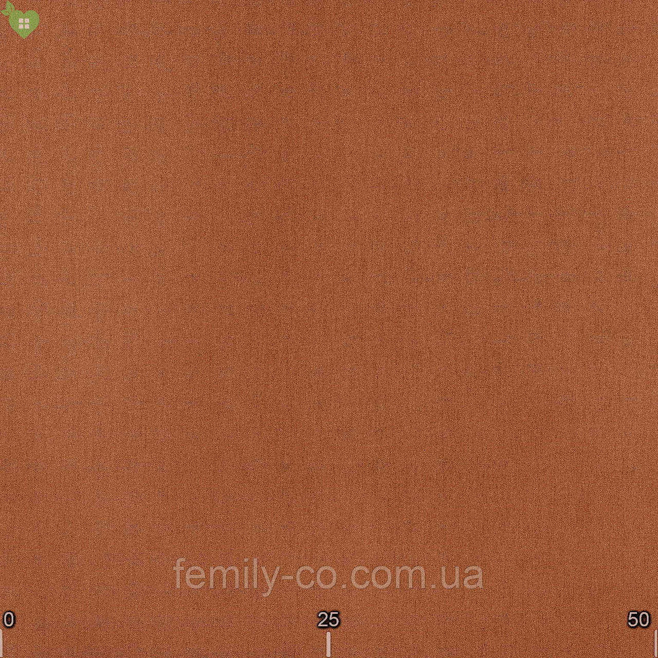 Однотонная уличная ткань терракотового цвета 100% акрил Испания 83375v3