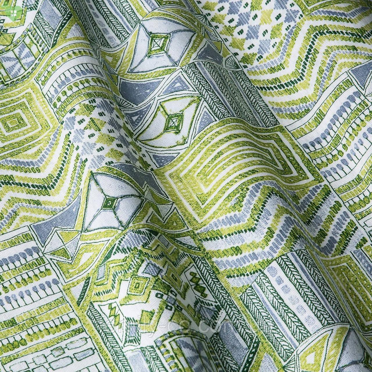 Декоративная ткань пэтчворк зеленый Испания 83353v1