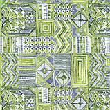 Декоративная ткань пэтчворк зеленый Испания 83353v1, фото 3