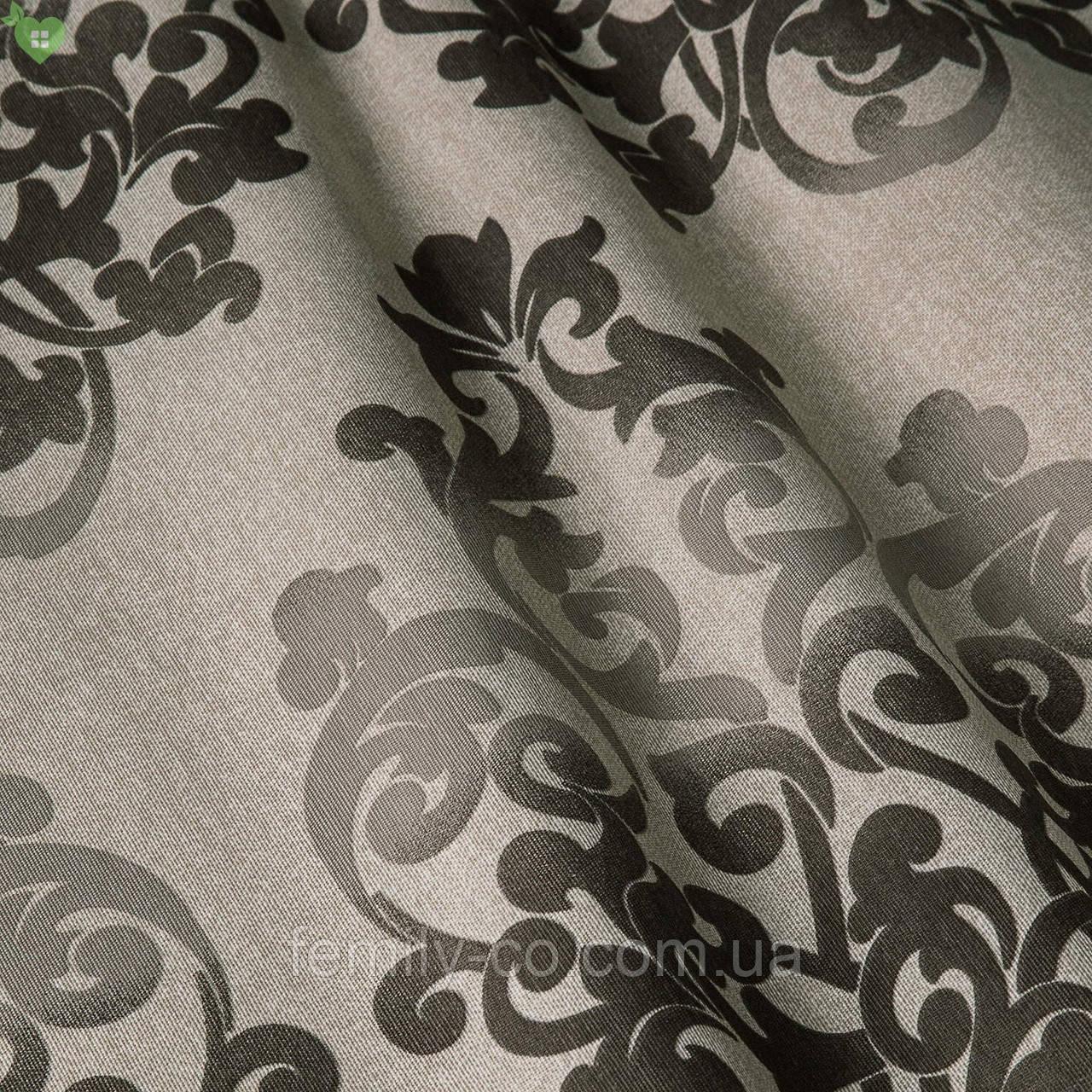 Декоративная ткань вензель коричневый Испания 83360v4