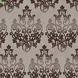 Декоративная ткань вензель коричневый Испания 83360v4, фото 2