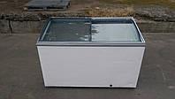Ларь морозильный 400 л. Ларь гнутое стекло б/у., фото 1