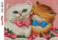 Алмазная вышивка «Милые котята». АВ-4031 (А4). Полная выкладка