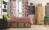 Декоративная ткань детские разноцветные цветы зеленого розового сиреневого и фиолетового цвета, фото 2