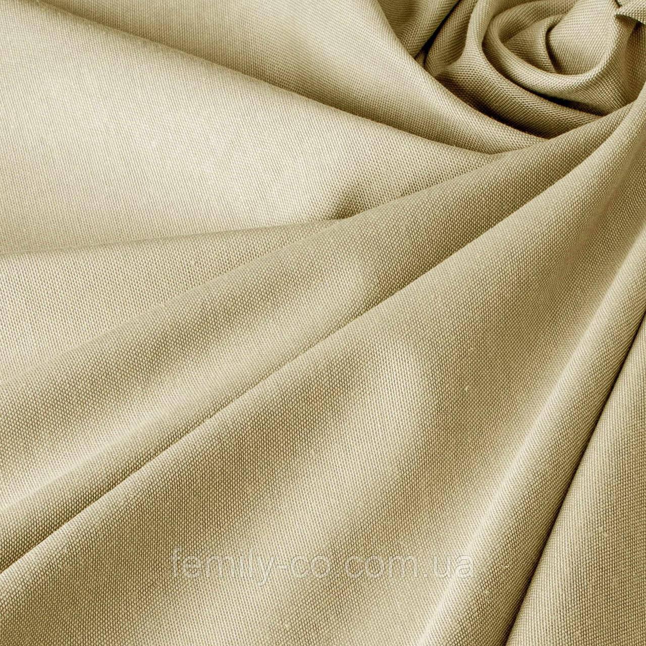 Однотонная декоративная ткань цвета кофе с молоком тефлон 81024