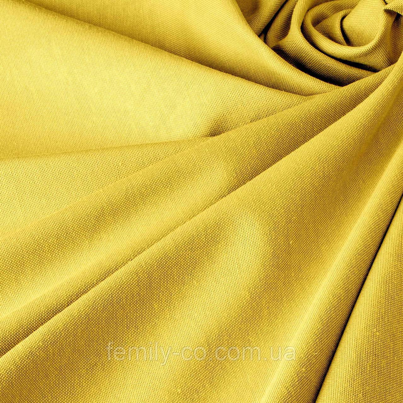 Однотонная декоративная ткань золотисто-желтого цвета Турция 81009