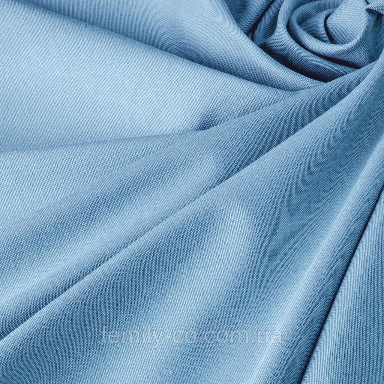 Однотонная декоративная ткань небесно-голубого цвета с тефлоном 81138