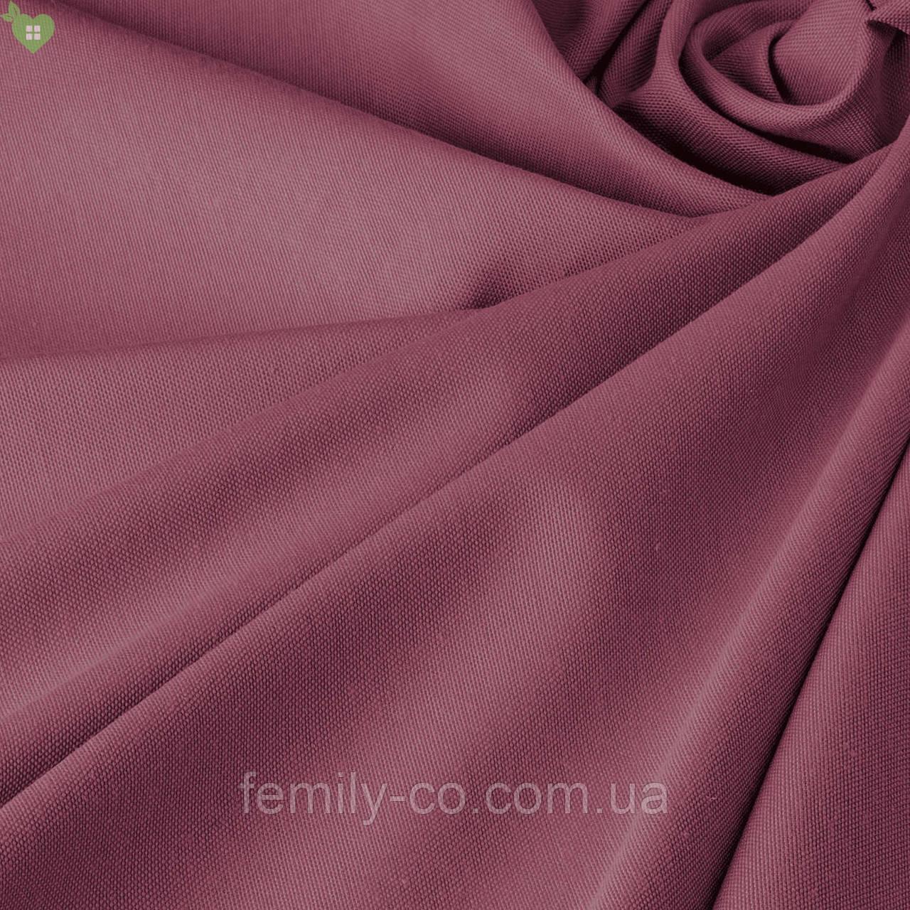 Однотонная декоративная ткань запыленного розового цвета Турция 81133