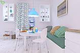 Декоративная ткань в полоску зелено-голубого цвета с синим Турция 82788v71, фото 2