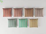 Декоративная ткань в полоску зелено-голубого цвета с синим Турция 82788v71, фото 3