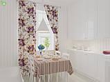 Декоративная ткань в полоску сиренево-фиолетового цвета с тефлоном 82629v67, фото 2