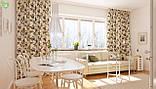 Декоративная ткань мелкие серые и бежевые розочки с узором Турция 81348v5, фото 2