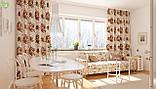 Декоративная ткань с крупными букетами из коричнево-бежевых роз Турция 81329v31, фото 2
