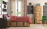 Декоративная ткань с розовыми и сиреневыми птичками белого цвета Турция 81228v2, фото 2