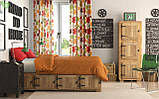 Декоративная ткань разноцветные цветы коричневого оранжевого красного и зеленого цвет с тефлоном 81558v19, фото 2