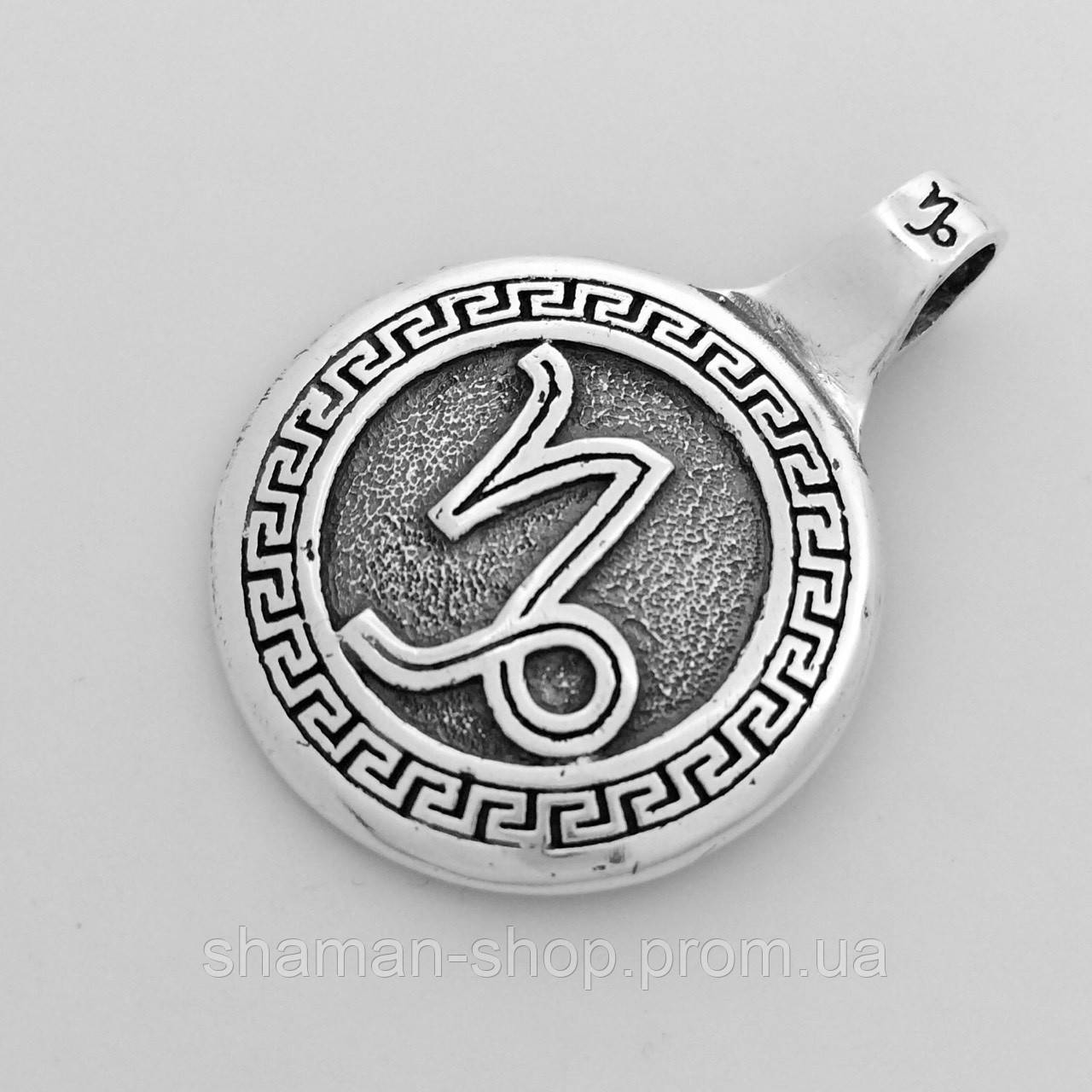 Cеребряный подвес знак Зодиака Козерог