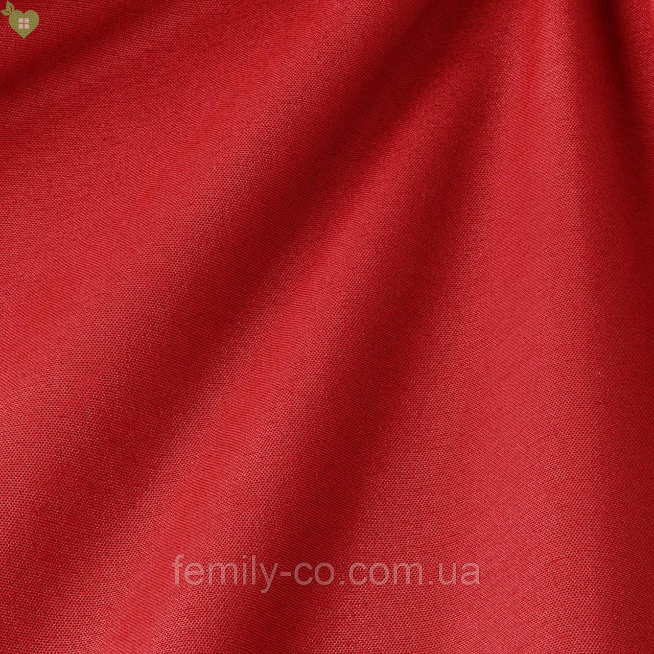 Однотонная декоративная ткань люминесцентно-красного цвета Испания 82755v59