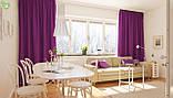 Однотонная декоративная ткань лилового цвета Испания 82708v51, фото 3