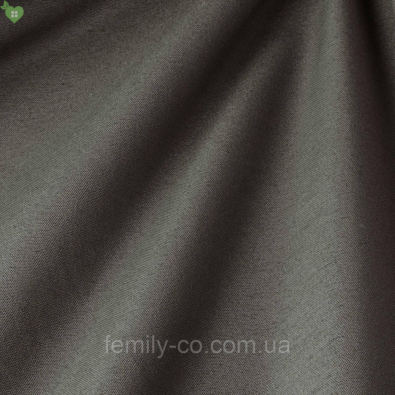 Однотонная декоративная ткань пыльно-серого цвета Испания 82706v49