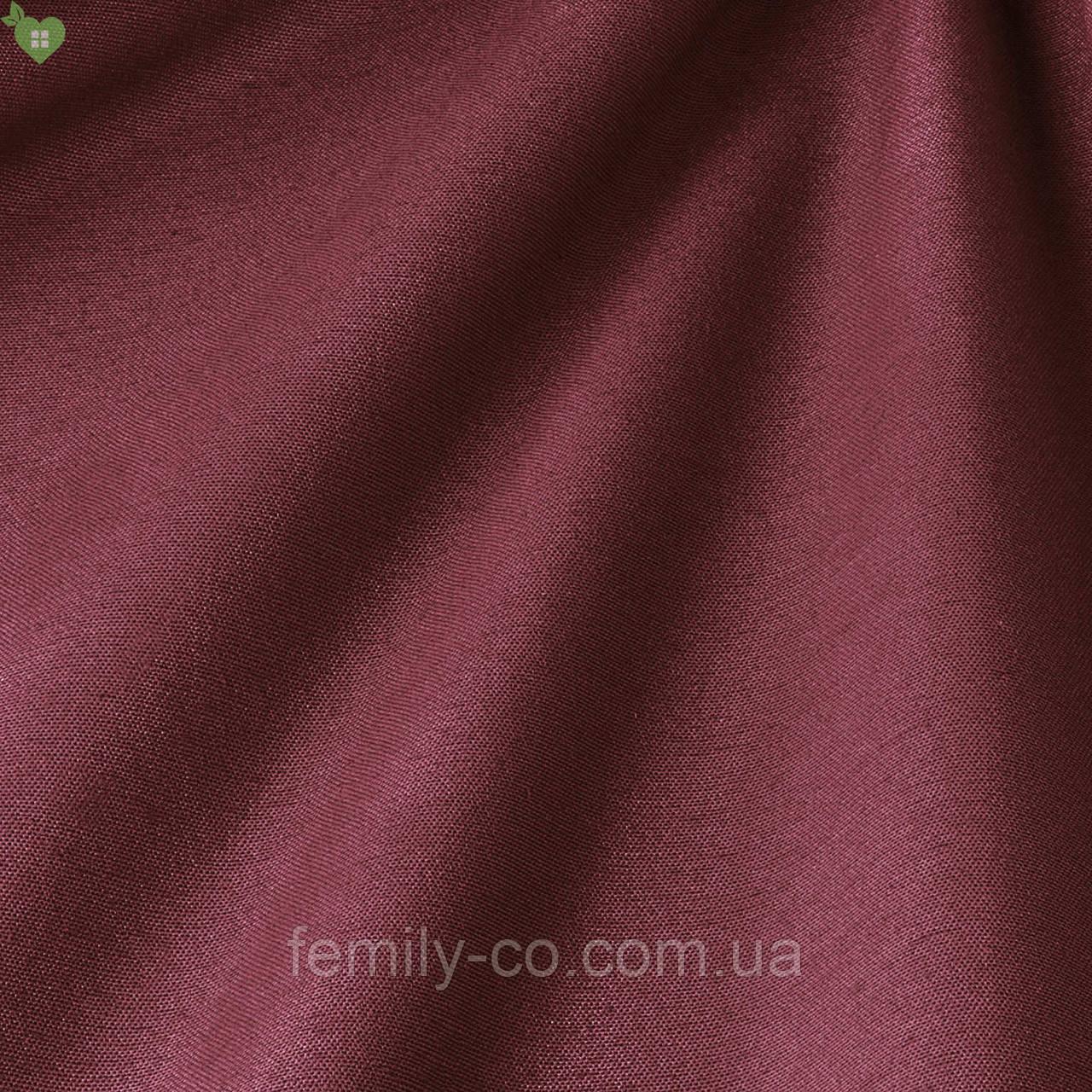 Однотонная декоративная ткань красно-коричневого цвета Испания 82705v48