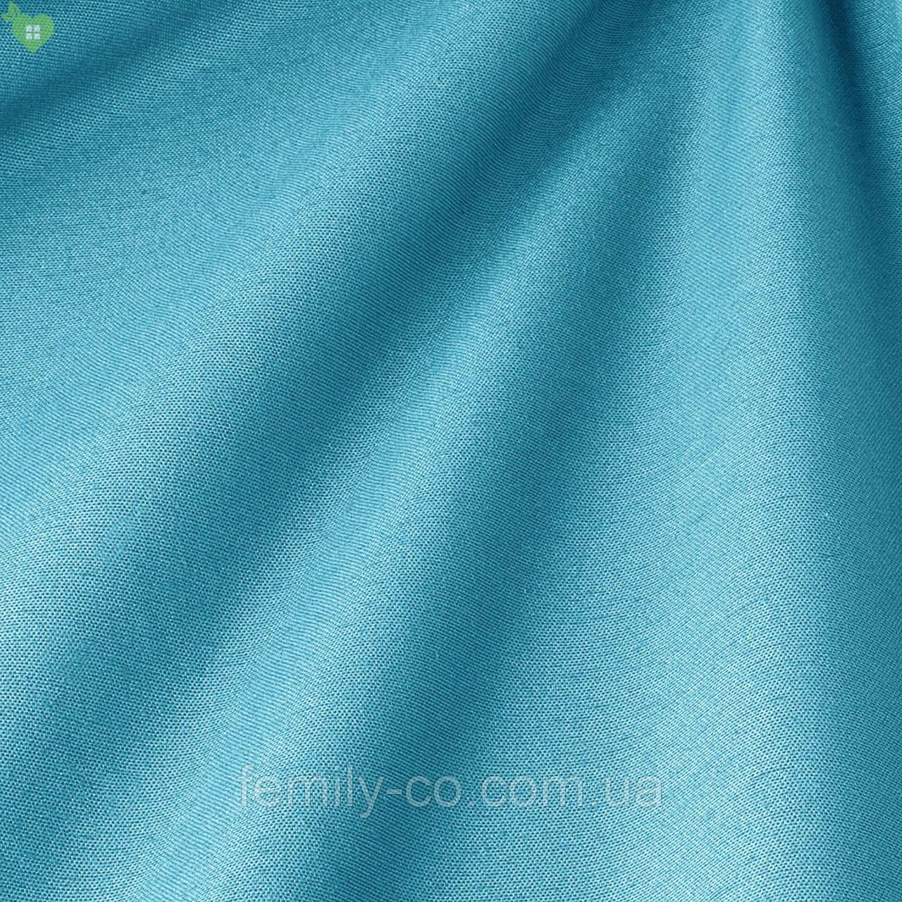 Однотонная декоративная ткань небесного цвета Испания 82438v30