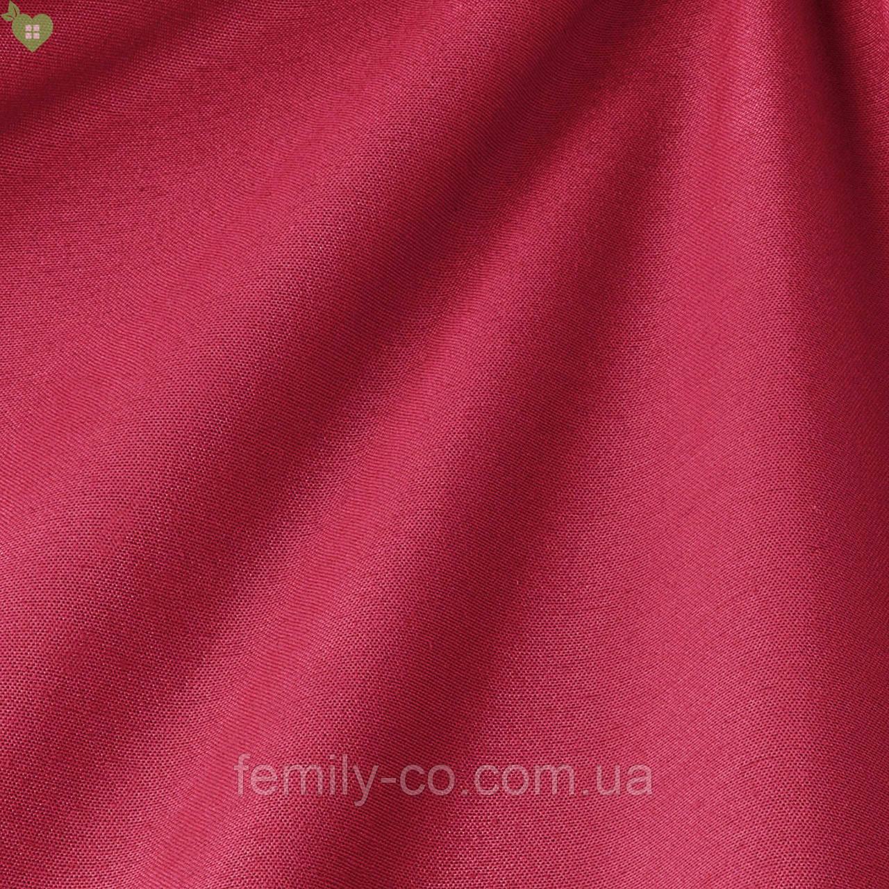 Однотонная декоративная ткань темного пурпурно-розового цвета 82449v20