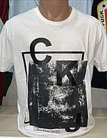 Мужская турецкая белая футболка Calvin Klein