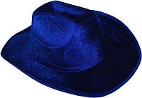 Шляпа Ковбоя велюр (синяя) 170216-315