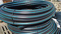 Труба полиэтиленовая  75 мм 6 атм черно синяя