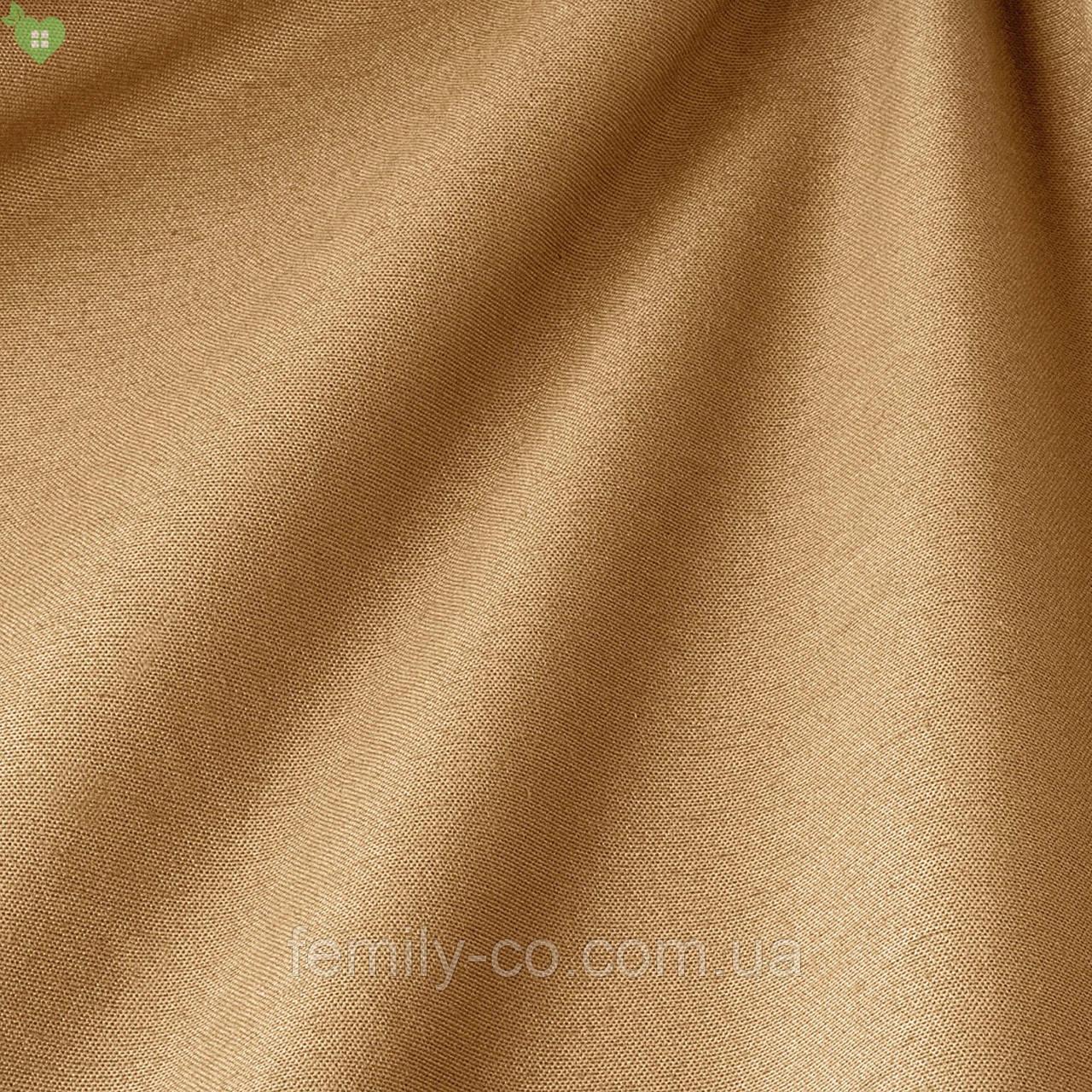 Однотонная декоративная ткань темно-кремового цвета 82459v10