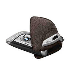 Оригинальный кожаный чехол для ключа BMW со стальным зажимом Mokka (82292408819)
