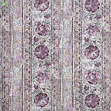 Декоративная ткань с волшебными сиреневыми узорами на полосках Испания 82896v2, фото 3