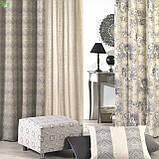 Декоративная ткань с крупными серыми цветами на бежевом Испания 82872v1, фото 2