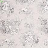 Декоративная ткань с крупными серыми цветами на бежевом Испания 82872v1, фото 3