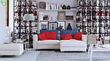 Декоративная ткань с объектами и текстами лондонской тематики серого цвета Испания 82836v1, фото 2