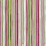 Декоративная ткань в тонкую красную и зеленую полоску на наляписто-белом Испания 82827v1, фото 3