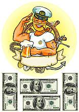 Вафельная картинка моряк
