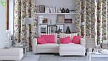 Декоративная ткань с мелкими полевыми цветами розового цвета на льняном фоне Испания 82824v1, фото 2