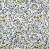 Декоративная ткань с тропическими растениями голубого и зеленого цвета Испания 82672v1, фото 3