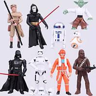 Фигурки героев фильма Звездные войны 9 штук