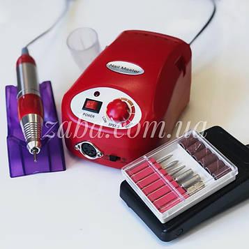 Фрезер ZS-217 Nail Master, 30000 об/мин, красный