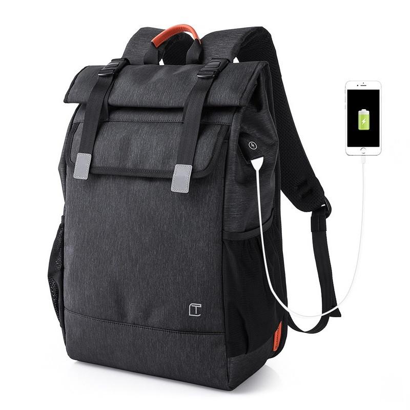 Современный рюкзак-мешок Tangcool TC707, с USB портом и отделением для ноутбука, 28л